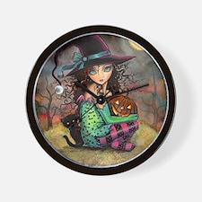 Halloween Hill Wall Clock