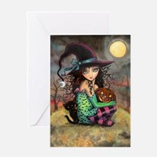 Halloween Hill Greeting Card
