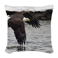 Eagle, Fish in Talons Woven Throw Pillow