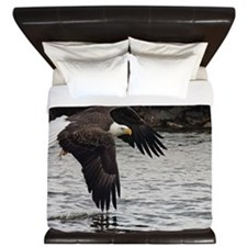 Eagle, Fish in Talons King Duvet