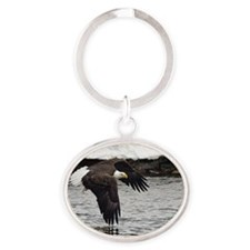 Eagle, Fish in Talons Oval Keychain