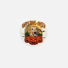 Happy Halloween Golden Retriever Mini Button