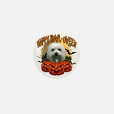 Happy Halloween Maltese Mini Button