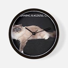 Ragdoll Wall Calendar Wall Clock