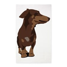 Dachshund frontal view 3'x5' Area Rug