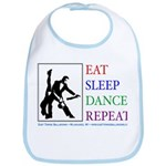 Eat Sleep Dance Repeat Bib