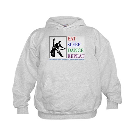 Eat Sleep Dance Repeat Kids Hoodie