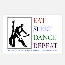 Eat Sleep Dance Repeat Postcards (Package of 8)