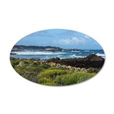 Monterey Coastal Blooms 35x21 Oval Wall Decal