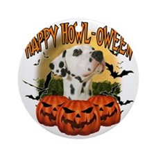 Happy Halloween Dalmation Round Ornament