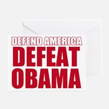 defeat obama Greeting Card