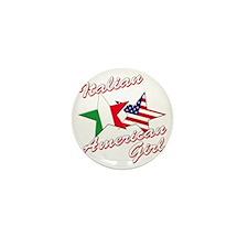 italian american girl(blk) Mini Button