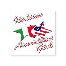 "italian american girl(blk) Square Sticker 3"" x 3"""