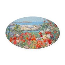 postcard1 Oval Car Magnet