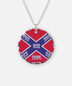 Old School Empire Flag Shirt Necklace Circle Charm