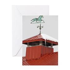 Colony Barn Weathervane Greeting Card