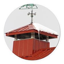 Colony Barn Weathervane Round Car Magnet