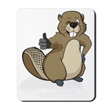 Thumbs up beaver Mousepad