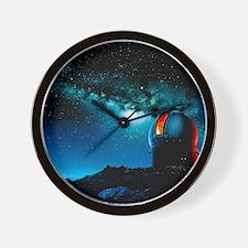 Artwork based on Mauna Kea of a telesco Wall Clock