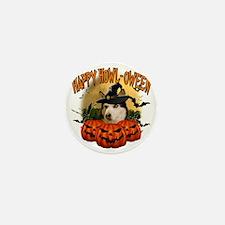 Happy Halloween Husky Mini Button