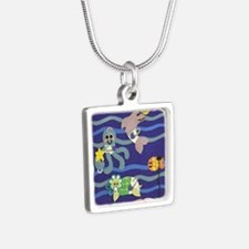 Undersea Nursery Silver Square Necklace