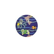 Undersea Nursery Mini Button