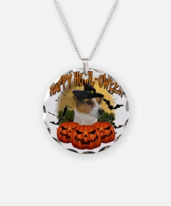 Happy Halloween Jack Russell Necklace