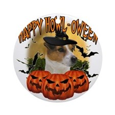 Happy Halloween Jack Russell Round Ornament
