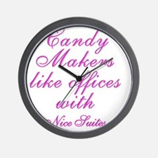 Candy makers like to work in nice SUITE Wall Clock