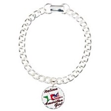 italian american girl Charm Bracelet, One Charm