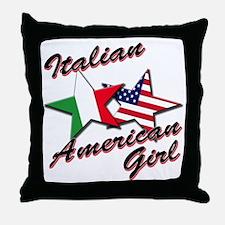 italian american girl Throw Pillow