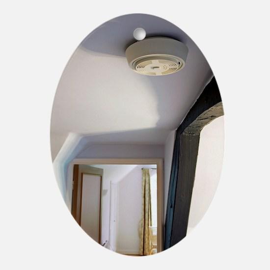 Smoke alarm Oval Ornament