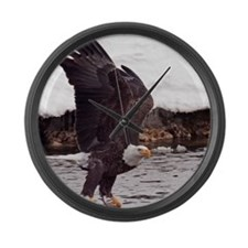 Eagle, Fish in Talons Large Wall Clock