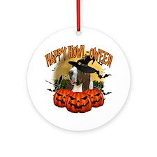 Happy Halloween Bassett Hound Round Ornament