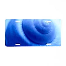 Snail shell Aluminum License Plate