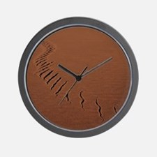 Snake track in sand Wall Clock