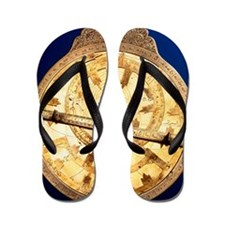 Brass astrolabe from the middle ages Flip Flops