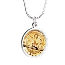 Brass astrolabe from the mid Silver Round Necklace