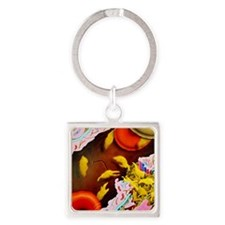Artwork of blood platelets repairi Square Keychain