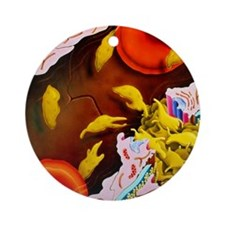 Artwork of blood platelets repairin Round Ornament