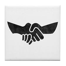 Keep The Handshake Simple Tile Coaster