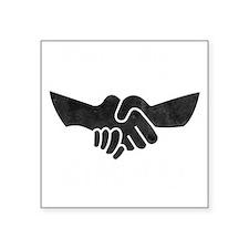 "Keep The Handshake Simple Square Sticker 3"" x 3"""