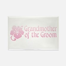 Hibiscus Grandmother of Groom Rectangle Magnet