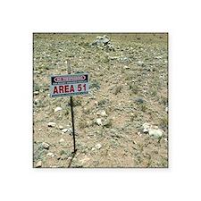 """Area 51 UFO site Square Sticker 3"""" x 3"""""""