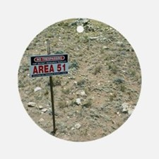 Area 51 UFO site Round Ornament
