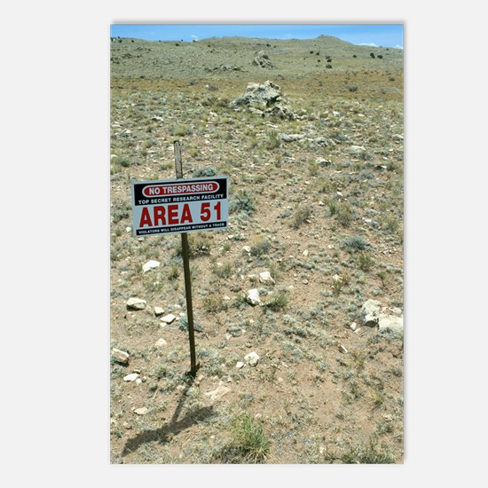 Area 51 UFO site Postcards (Package of 8)