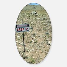 Area 51 UFO site Sticker (Oval)