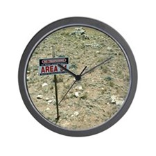 Area 51 UFO site Wall Clock