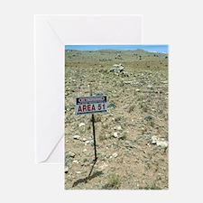 Area 51 UFO site Greeting Card