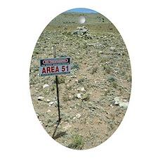 Area 51 UFO site Oval Ornament